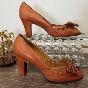 Gianni Bini Shoes Heels Peep Toe Natalie Tan 7